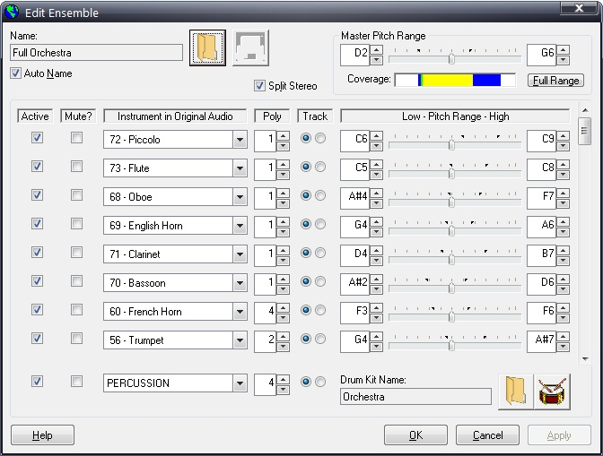 Click to view Intelliscore Ensemble MP3 to MIDI 8.1 screenshot