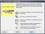 IntelliScore MP3 to MIDI Converter: New Project Wizard - click to enlarge